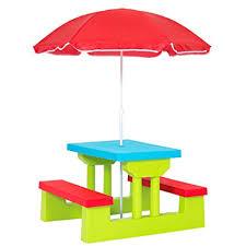 kids outdoor picnic table amazon com best choice products kids outdoor garden picnic table
