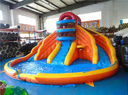 big blue lagoon inflatable water slide water slides for backyard