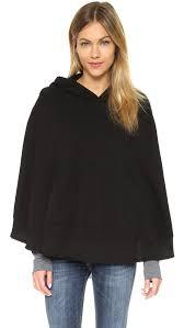 wilt big hoodie poncho in black lyst