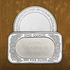 Engravable Items All Silver Bullion Silvertowne