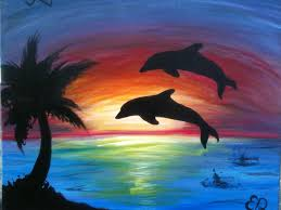 Dolphin Home Decor Decor Dolphins Canvas Paintings With Antique Oil Paintings On