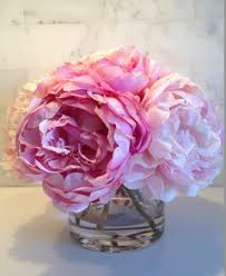 faux peonies silk floral arrangement faux mixed pink peonies with