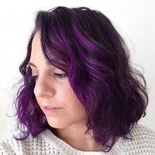 black hairstyles purple 22 sassy purple highlighted hairstyles for short medium long