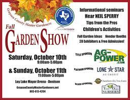 Fall Garden North Texas - grayson county master gardeners fall garden show oct 10 11