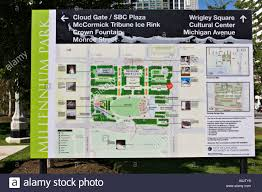 Chicago Tourist Map Parks Chicago Illinois Informational Map Of Millennium Park Arrows
