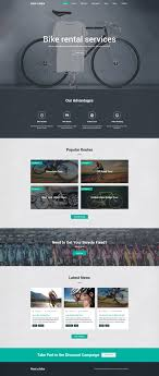 responsive web design layout template bike shop website template web design inspiration website designs