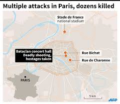 Map Paris France by More Than 120 People Killed In Paris U0027terror U0027 Attacks Inquirer News