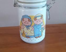 pig kitchen canisters pig jar etsy