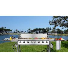 nxr stainless steel 8 burner event grill
