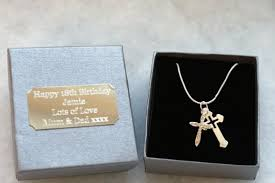 where can i buy a gift box buy personalised gift box cross necklace christeningbaptism