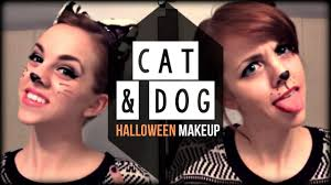 cute halloween cat makeup cat u0026 dog glam halloween hair u0026 make up tutorial kimtrovert
