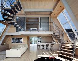 Interior Contemporary A Frame House Open Plan Modern Living And Living Spaces