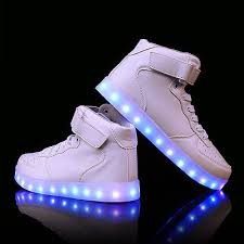 light up shoes charger flashing kids boy led light up shoes trainers usb charger