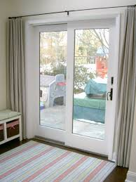 Replace Sliding Closet Doors With Curtains Sliding Door Curtains Install Glass Best 25 Window Treatments