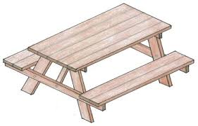 Outdoor Tables And Benches 50 Free Diy Picnic Table Plans For Kids And Adults