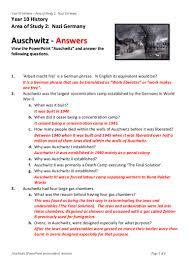 answers powerpoint auschwitz worksheet