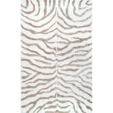 Zebra Area Rugs Nuloom Plush Zebra Grey 8 Ft 6 In X 11 Ft 6 In Area Rug Zf5