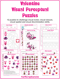 Visual Discrimination Worksheets Winter Visual Perceptual Puzzles Your Therapy Source