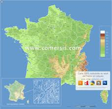 A Map Of France by Vector Maps France