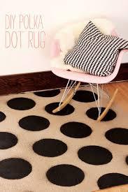diy polka dot rug a beautiful mess
