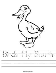 birds fly south worksheet twisty noodle