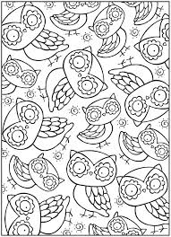 Complex Owl Coloring Pages Coloring For Kids Complex Owl Coloring Owl Coloring Ideas