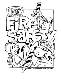 fire safety book coloring page with prevention pages eson me