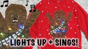 ugly christmas sweater with lights diy chewbacca ugly christmas sweater lights up sings youtube