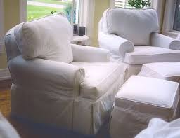 chair and ottoman slipcover slipcover white chairs