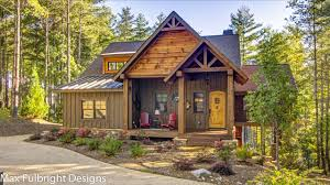 Walk Out Basement House Plans by Small Cabin Home Plan With Open Living Floor Plan Bedroom Rustic