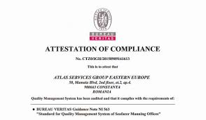 bureau veritas bureau veritas awards attestation to atlas offices marine