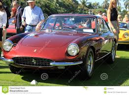 ferrari classic classic ferrari sports cars lined up front view editorial stock