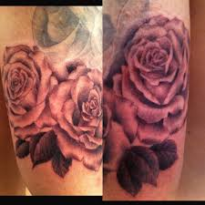 black and gray roses and praying by small paul yelp