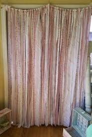 Shabby Chic Curtains Cottage Shabby Farmhouse Curtain Wedding Decor Shabby Cottage Curtain