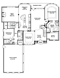 654028 two story 4 bedroom 3 bath french style house plan free