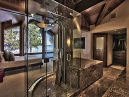 contemporary master bathroom with master bathroom high ceiling contemporary master bathroom with sevona freestanding brushed stainless steel shower panel with mounting base exposed
