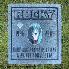 headstones for dogs pet memorials quiring monuments