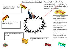 superhero missing number problems teaching resources maths
