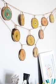 woodland nursery decor wood slice garland with resin resin crafts