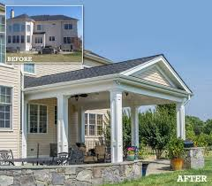 Before And After Home Exteriors by Howard County Home Exterior Renovations Company