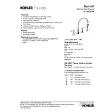kohler revival kitchen faucet kohler faucet k 16109 4a bn revival vibrant brushed nickel two