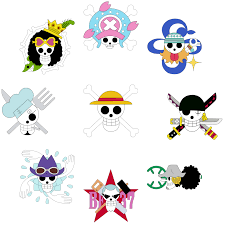 One Piece Flags Jolly Rogers Coloured In Version Onepiece