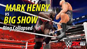 wwe 2k16 ps4 british bulldog vs x pac vs rikishi full match wwe 2k16 mark henry vs big show ring collapsed ps4 gameplay