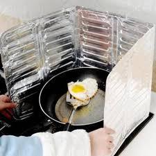 stove splash guard cooking accessory 1 pcs aluminum foil kitchen oil splash guard gas