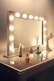 Jewelry Vanity Table Vanity Set With Light Up Mirror Glossy Top Rectangle Makeup Table