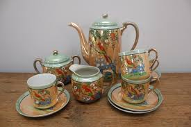 vintage tea set vintage japanese flowers and birds tea set tea gift ideas