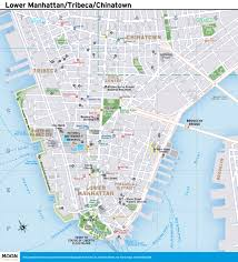 Metro Ny Map by New York City Map Lower Manhattan Tribeca And Chinatown Moon