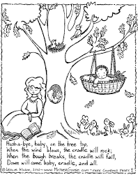 nursery rhyme coloring page teaching nursery rhymes mother