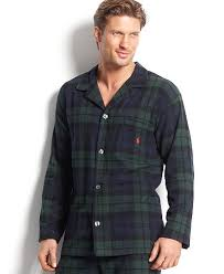 polo ralph s plaid flannel pajama top pajamas lounge