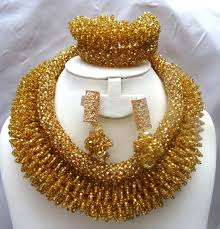beads wedding necklace images Statement african coral jewelry beads jewelry set jpg